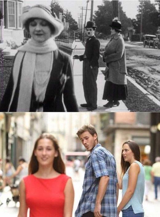 Чарли Чаплин и мемы.